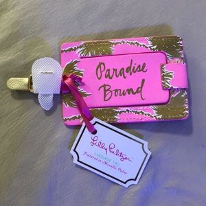 Lilly Pulitzer Luggage Tag in Metallic Palms